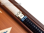 picture of 15-inch Mahogany Backgammon Set - Blue (8 of 12)