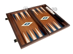picture of 15-inch Mahogany Backgammon Set - Blue (8 of 11)
