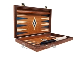 picture of 15-inch Mahogany Backgammon Set - Blue (10 of 12)