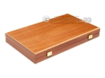 picture of 15-inch Mahogany Backgammon Set - Blue (10 of 11)