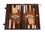 picture of 15-inch Mahogany Backgammon Set - Brown (1 of 12)