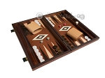 15-inch Mahogany Backgammon Set - Brown