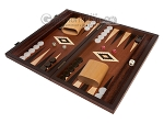 15-inch Mahogany Backgammon Set - Brown - Item: 2854