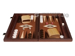 picture of 15-inch Mahogany Backgammon Set - Brown (4 of 12)