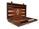 picture of 15-inch Mahogany Backgammon Set - Brown (10 of 12)