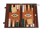 15-inch Mahogany Backgammon Set - Green - Item: 2857