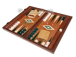 picture of 15-inch Mahogany Backgammon Set - Green (1 of 11)
