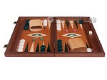 picture of 15-inch Mahogany Backgammon Set - Green (3 of 11)
