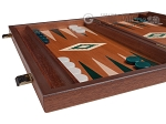 picture of 15-inch Mahogany Backgammon Set - Green (5 of 12)