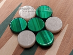 picture of 15-inch Mahogany Backgammon Set - Green (6 of 11)