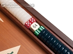 picture of 15-inch Mahogany Backgammon Set - Green (7 of 11)