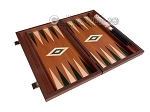picture of 15-inch Mahogany Backgammon Set - Green (9 of 12)