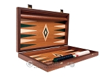 picture of 15-inch Mahogany Backgammon Set - Green (10 of 12)