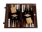 picture of 15-inch Ebony Zebrano Backgammon Set - Black Field (1 of 12)