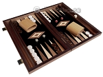 picture of 15-inch Ebony Zebrano Backgammon Set - Black Field (2 of 11)