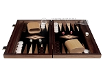 picture of 15-inch Ebony Zebrano Backgammon Set - Black Field (4 of 12)