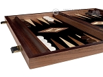 picture of 15-inch Ebony Zebrano Backgammon Set - Black Field (5 of 12)