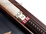 picture of 15-inch Ebony Zebrano Backgammon Set - Black Field (8 of 12)