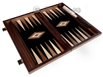 picture of 15-inch Ebony Zebrano Backgammon Set - Black Field (8 of 11)