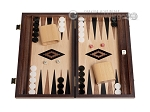 picture of 15-inch Ebony Zebrano Backgammon Set - Oak Field (1 of 12)