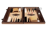 picture of 15-inch Ebony Zebrano Backgammon Set - Oak Field (3 of 11)