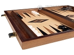 picture of 15-inch Ebony Zebrano Backgammon Set - Oak Field (5 of 12)