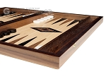picture of 15-inch Ebony Zebrano Backgammon Set - Oak Field (6 of 12)
