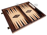 picture of 15-inch Ebony Zebrano Backgammon Set - Oak Field (9 of 12)