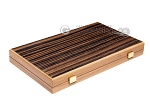 picture of 15-inch Ebony Zebrano Backgammon Set - Oak Field (10 of 11)
