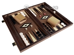picture of 15-inch Ebony Zebrano Backgammon Set - Walnut Field (2 of 12)