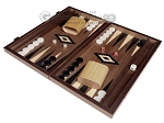 picture of 15-inch Ebony Zebrano Backgammon Set - Walnut Field (1 of 11)