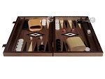 picture of 15-inch Ebony Zebrano Backgammon Set - Walnut Field (3 of 11)