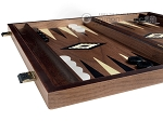 picture of 15-inch Ebony Zebrano Backgammon Set - Walnut Field (5 of 12)