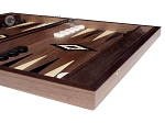 picture of 15-inch Ebony Zebrano Backgammon Set - Walnut Field (6 of 12)