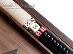 picture of 15-inch Ebony Zebrano Backgammon Set - Walnut Field (8 of 12)