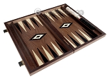 picture of 15-inch Ebony Zebrano Backgammon Set - Walnut Field (9 of 12)