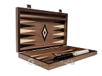 picture of 15-inch Ebony Zebrano Backgammon Set - Walnut Field (10 of 12)