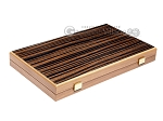 picture of 15-inch Ebony Zebrano Backgammon Set - Walnut Field (11 of 12)