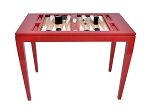 Lacquered Backgammon Table - Bolero Red - Item: 2713