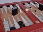 picture of Lacquered Backgammon Table - Bolero Red (2 of 2)