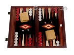 picture of 15-inch Padauk Backgammon Set - Black Field (1 of 12)