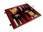 picture of 15-inch Padauk Backgammon Set - Black Field (2 of 12)