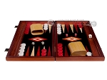 picture of 15-inch Padauk Backgammon Set - Black Field (4 of 12)