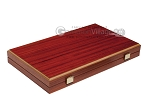 15-inch Padauk Backgammon Set - Black Field - Item: 2869