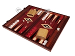 15-inch Padauk Backgammon Set - Padauk Field - Item: 2870