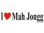 picture of I Love Mah Jongg - Bumper Sticker (1 of 1)