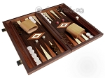 picture of 15-inch Wenge Backgammon Set - Wenge Field (2 of 11)