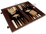picture of 15-inch Wenge Backgammon Set - Black Field (2 of 11)