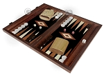 picture of 15-inch Wenge Backgammon Set - Black Field (3 of 12)