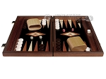 picture of 15-inch Wenge Backgammon Set - Black Field (3 of 11)
